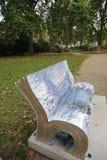 London bokbänkar Arkivfoto