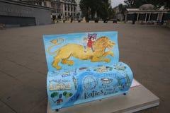 London bokbänkar Royaltyfri Foto