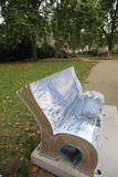 London Book Benches Stock Photo