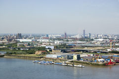 London Borough of Newham from Above Stock Photo