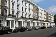 London bostads- gata Royaltyfri Fotografi