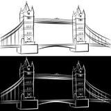 London-Brücken-Zeichnung Stockbilder