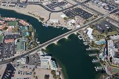 London Bridge. Aerial view of the famous London Bridge, Lake Havasu, Arizona Royalty Free Stock Image