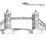 London Bridge. Vector illustration of London Bridge against white background Stock Photo