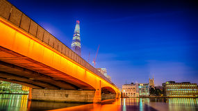 London Bridge. HDR image of london bridge at night Royalty Free Stock Images