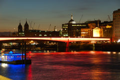 London bridge. On Thames, London in twilight Stock Photography