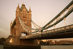 London Bridge. Scenic view of London Bridge over River Thames at dusk, England stock images
