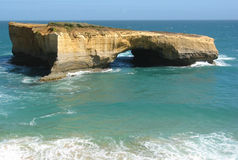 London Bridge. Victoria, Australia - limestone feature along the Great Ocean Road Stock Photos