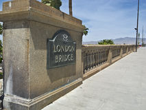 London Bridge in the Arizona Desert Royalty Free Stock Photography