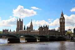 London bridge and Big Ben Stock Photography