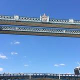 London Bridge and blue skies. London bridge detail Royalty Free Stock Photo