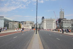 London Bridge Closed To Traffic Stock Image