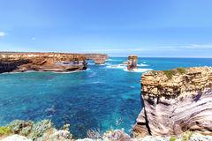 London bridge closeup in great ocean road. Australia Stock Photo