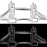London Bridge Drawing Stock Images