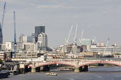 London bridge and equipments in background Stock Photos