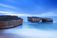 London Bridge on the Great Ocean Road, Australia at dawn Stock Images