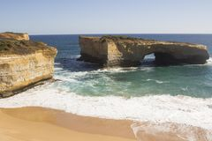 London Bridge on the Great Ocean Road  landmark Melbourne Victoria Australia nice Royalty Free Stock Photography