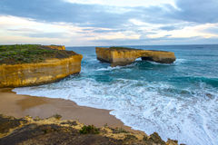 London Bridge; Great Ocean road. London Bridge; located along the Great Ocean Road near the twelve apostles rock Stock Image