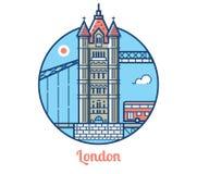 London Bridge Icon Stock Images