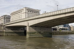 London Bridge, London. Not a pretty bridge but still a very known one stock image