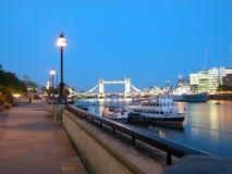 London Bridge, London. Full View London Bridge at night, London, UK, 2005 Royalty Free Stock Photography