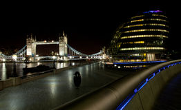 London Bridge at night Royalty Free Stock Photo