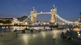 London bridge night stock footage