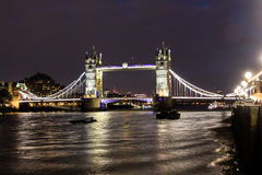London Bridge at Night. Tower Bridge in London, night city view with the river Thames Royalty Free Stock Photo