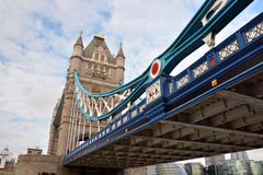 London Bridge from the North Bank of the Thames River, London Royalty Free Stock Photo