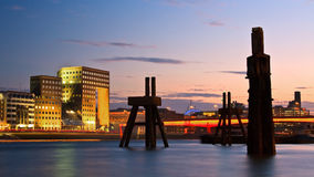 London Bridge and old jetty. Stock Images