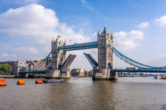 London bridge open Stock Images