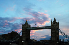 London Bridge. Picture of London bridge during sunset Stock Photos