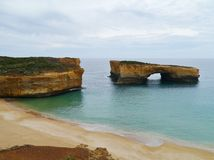 London bridge  of Port Campbell National Park Stock Photos