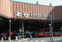 London Bridge railway station Royalty Free Stock Photos