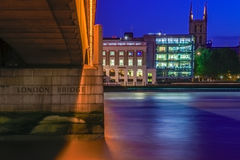 London Bridge and Riverside Office Buildings Stock Photos