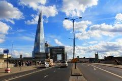London Bridge road view Central London Great Britain royalty free stock image