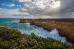 The London Bridge rock formation on Great Ocean Road, Australia Stock Photos