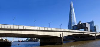 London Bridge, The Shard and Tower Bridge. Royalty Free Stock Photos