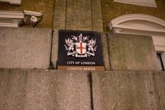 London Bridge sign Royalty Free Stock Photo