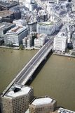 London bridge from the top of the shard royalty free stock photos