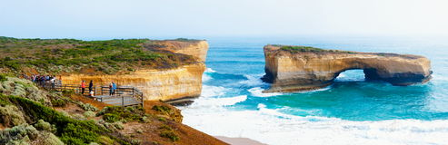 London Bridge at The Twelve Apostles in Victoria, Australia Stock Photos