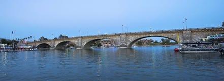 A London Bridge at Twilight, Lake Havasu City Royalty Free Stock Image