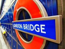 London Bridge Underground Sign Royalty Free Stock Image
