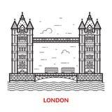London Bridge Vector Illustration Royalty Free Stock Photo