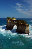 London Bridge, VIC Australia. A bridge shape cliff standing out of the ocean royalty free stock photo