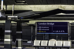 London Bridge. A view from a train station going to Charing Cross Stock Image