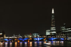 London bridges. London light - reflections on Thames Royalty Free Stock Images