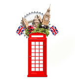 London, Britain, tourist collage. With London attractions Stock Images