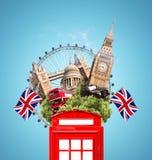 London, Britain, tourist collage Royalty Free Stock Photos