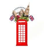 London Britannien, turist- collage Arkivbilder